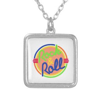 Rock & Roll Square Pendant Necklace