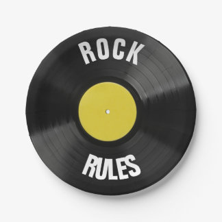 Rock Rules Paper Plate