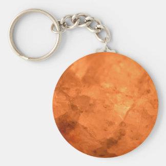 Rock Salt Lamp Basic Round Button Key Ring