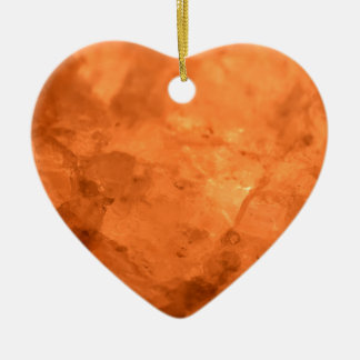 Rock Salt Lamp Ceramic Heart Decoration