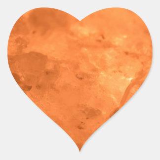 Rock Salt Lamp Heart Sticker