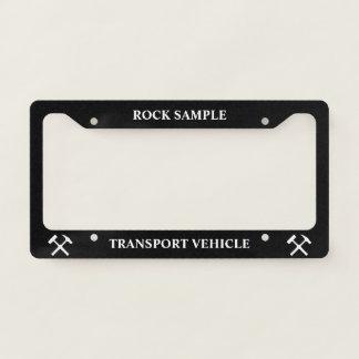 Rock Sample Transport Vehicle: Funny Geology Licence Plate Frame