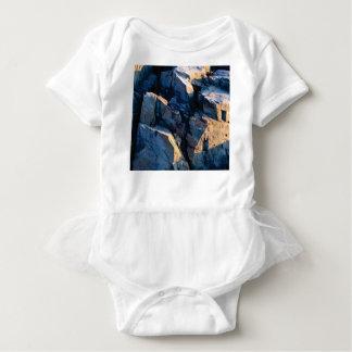 rock shadow texture baby bodysuit