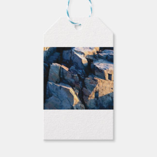 rock shadow texture gift tags