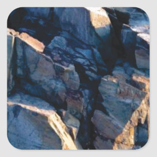 rock shadow texture square sticker