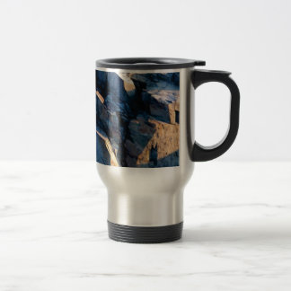 rock shadow texture travel mug