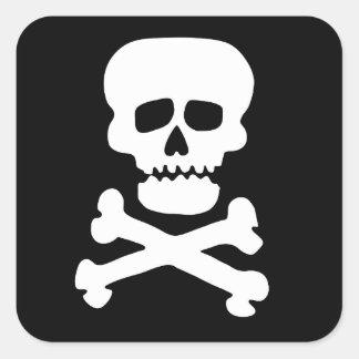 Rock Skull Large Sticker Set of Six