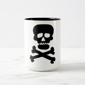 Rock Skull Two-Tone Coffee Mug