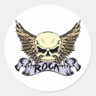 Rock Skull with Wings Sticker