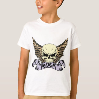 Rock Skull with Wings T-shirt