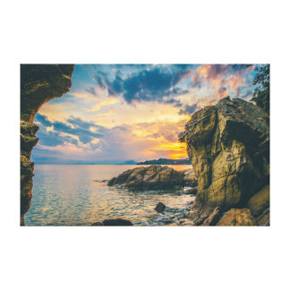 Rock | Sky | Sea | Ocean Canvas Print