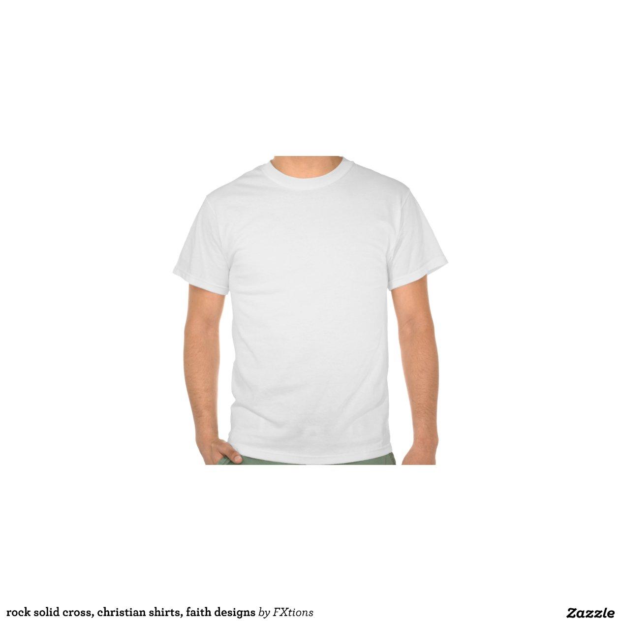 Rock solid cross christian shirts faith designs t shirt Design t shirt australia
