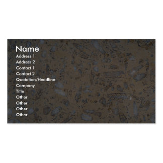 Rock Solid Fossils Pack Of Standard Business Cards