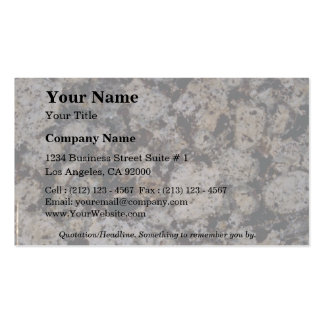Rock Solid Impressions in mocha Business Card Template