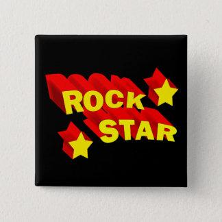 Rock Star 15 Cm Square Badge