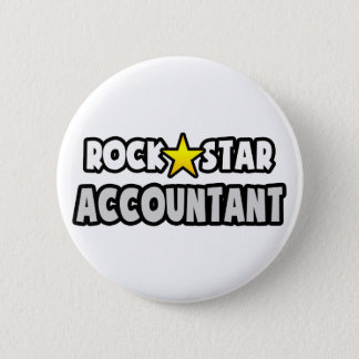 Rock Star Accountant 6 Cm Round Badge