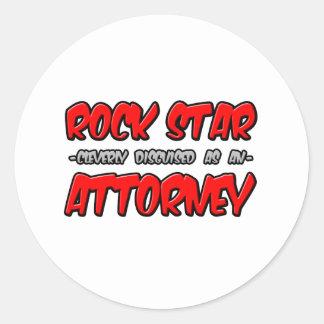 Rock Star Attorney Round Sticker