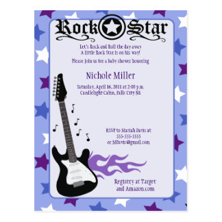 Rock Star Baby Rocker Purple/Blue Post Card Sample