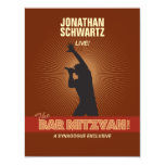Rock Star Bar Mitzvah Reply Card Custom Invites