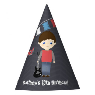 Rock Star Birthday Boy Party Hat