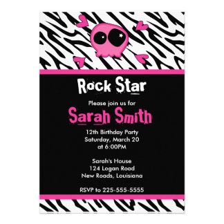 Rock Star Birthday Personalized Announcement