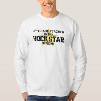 Rock Star by Night - 5th Grade T-Shirt