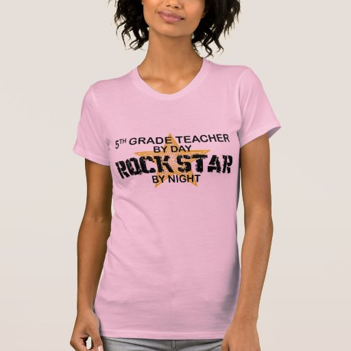 Rock Star by Night - 5th Grade Tee Shirt