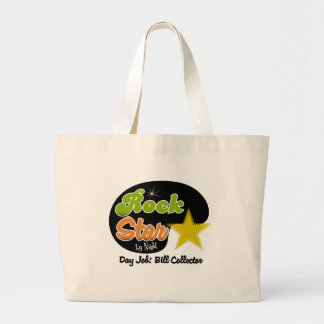 Rock Star By Night - Day Job Bill Collector Canvas Bags