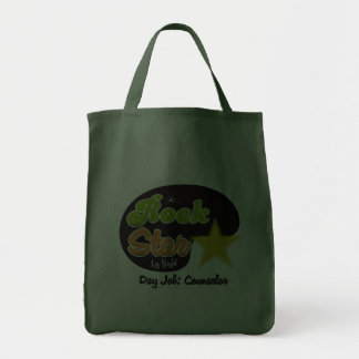 Rock Star By Night - Day Job Counselor Tote Bags