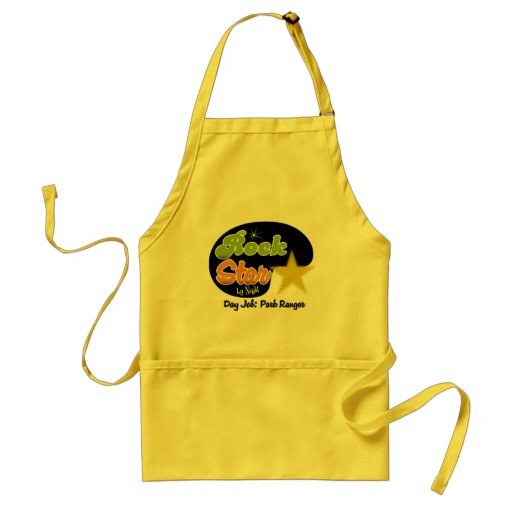 Rock Star By Night - Day Job Park Ranger Aprons