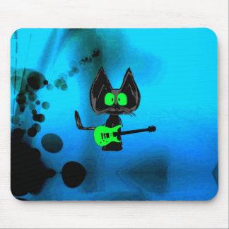 Rock Star Cat Music Video Photo Mousepads