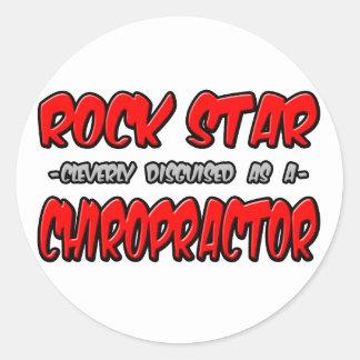 Rock Star...Chiropractor Round Sticker
