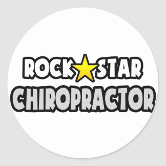 Rock Star Chiropractor Round Sticker