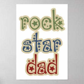 Rock Star Dad Color Poster