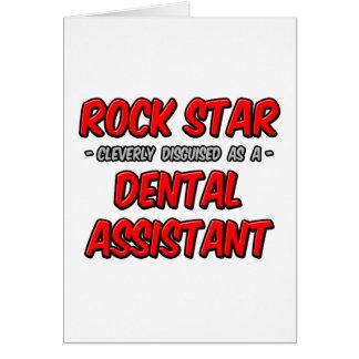 Rock Star Dental Assistant Greeting Card