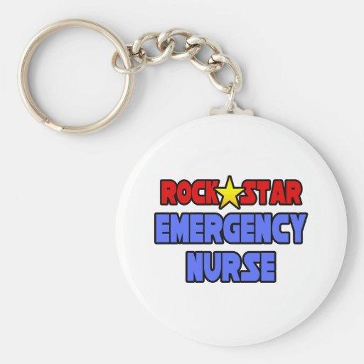 Rock Star Emergency Nurse Key Chain