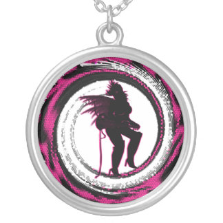 Rock Star Fairies Collection Round Pendant Necklace