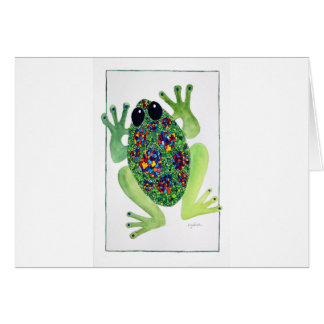 Rock Star Frog Card