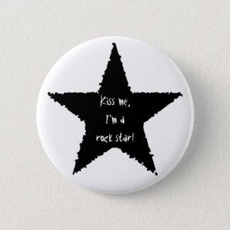 Rock star fun 6 cm round badge