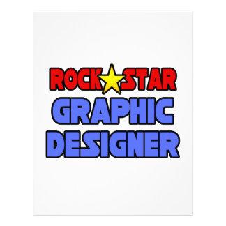 Rock Star Graphic Designer Custom Flyer