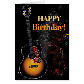 Rock star - greeting map card