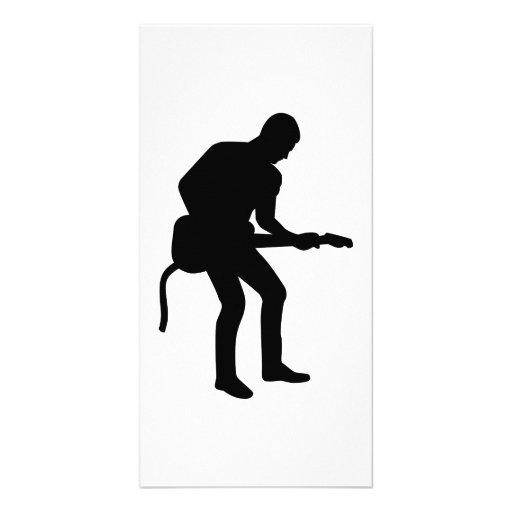 Rock star guitarist photo card