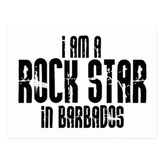 Rock Star In Barbados Postcard