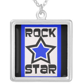 Rock Star in blue and black necklace