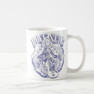 ROCK STAR IN BLUE VINTAGE STYLE COFFEE MUGS