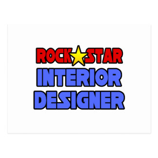 Rock Star Interior Designer Postcard