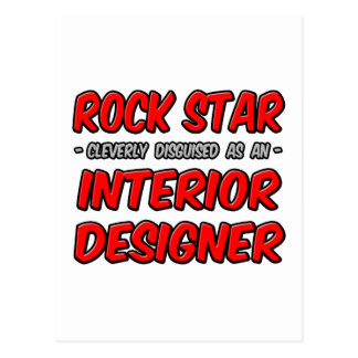 Rock Star...Interior Designer Postcard