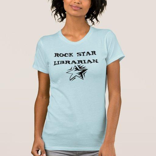 ROCK STAR LIBRARIAN T SHIRTS