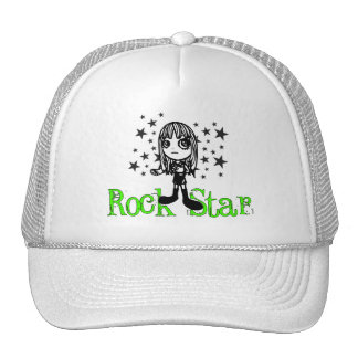 Rock Star Lime Hats