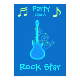 Rock Star Party Invitations